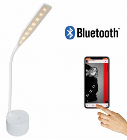 LED Desk Lamp NOUS S7 with Bluetooth Speaker White